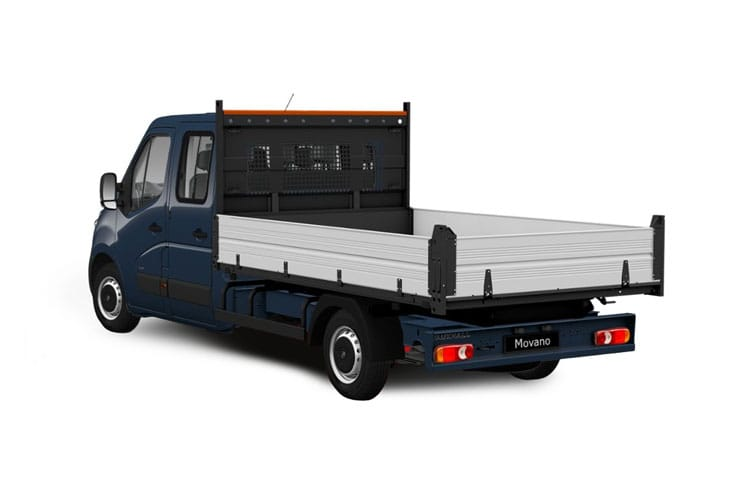 Vauxhall Movano HGV R45DRW L4 2.3 CDTi BiTurbo DRW 165PS  Dropside Double Cab Manual [Start Stop] back view